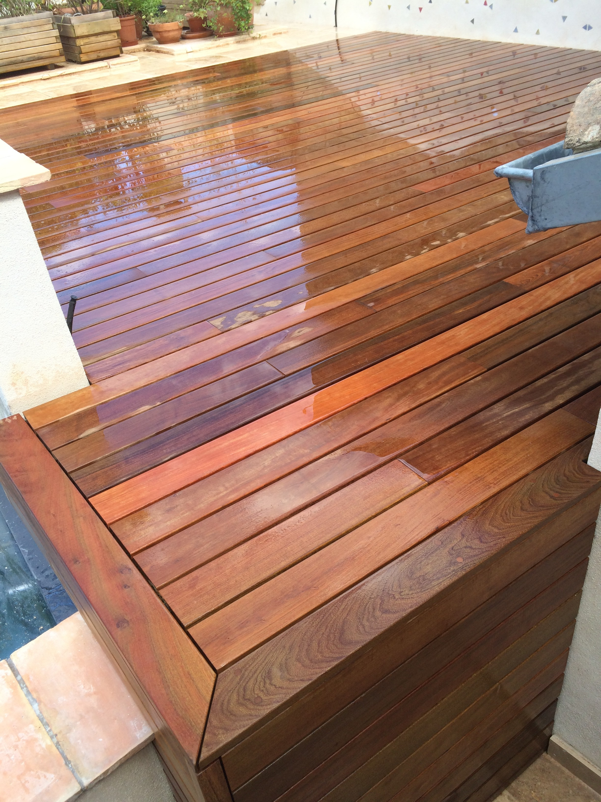 Terrasse bois IPE à Uzès