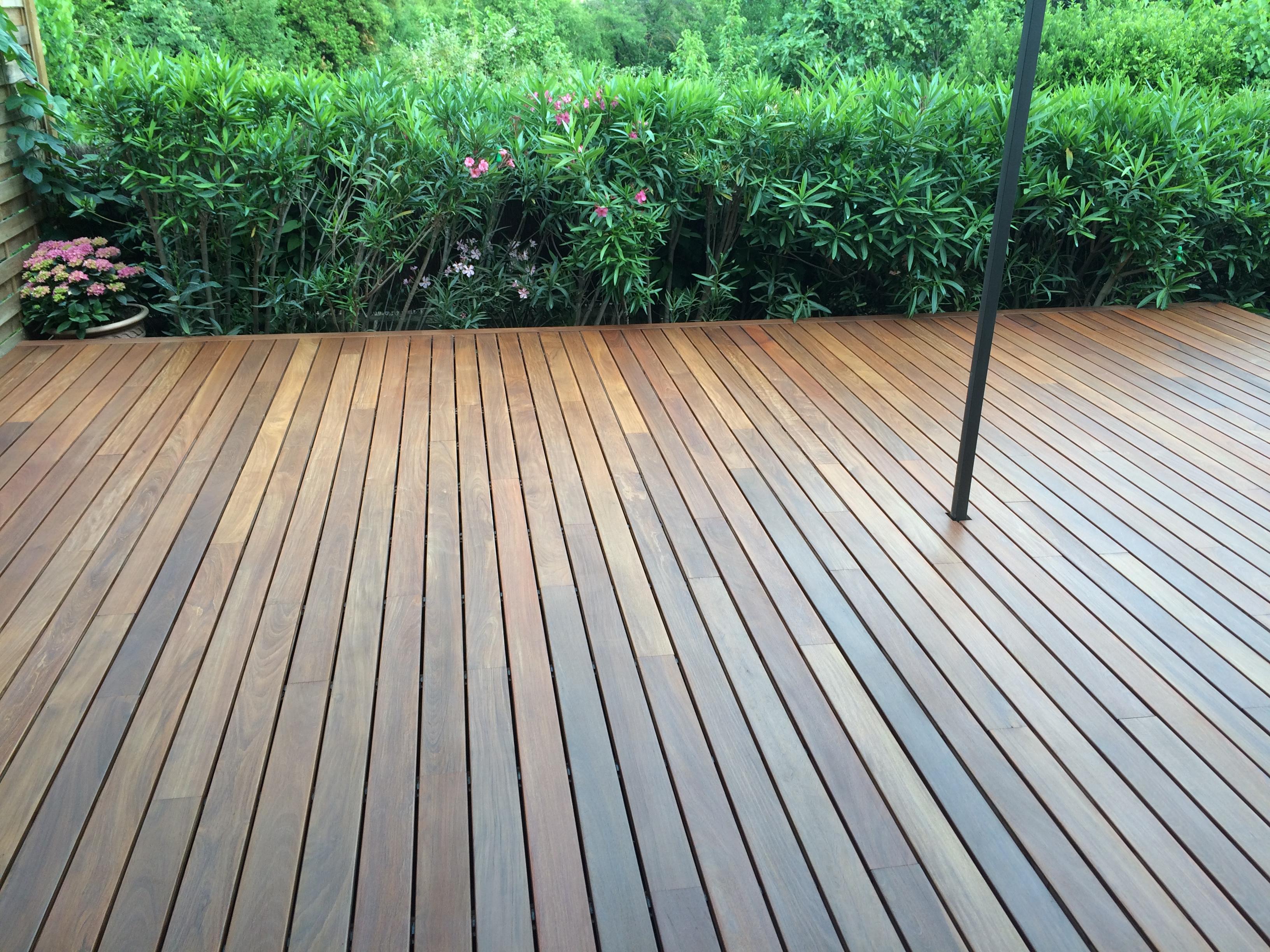 Terrasse bois Uzès en IPE